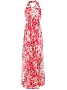 вечернее платье из жоржета с цветочным рисунком Max Mara