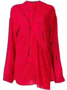 27cee734b75 блузка асимметричного кроя с рисунком в горох Haider Ackermann