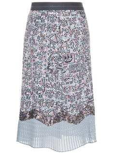 юбка 'X Keith Haring' в стилистике пэчворк Coach