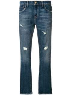 джинсы с декоративными дырами Current/Elliott