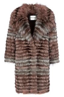 Облегченная шуба из меха чернобурки Virtuale Fur Collection