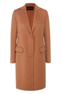 Кашемировое пальто с отложным воротником Emporio Armani