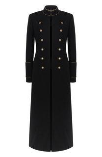 Шерстяное пальто с декоративными пуговицами Saint Laurent