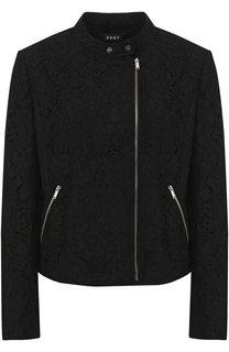 Куртка с кружевной отделкой на молнии DKNY