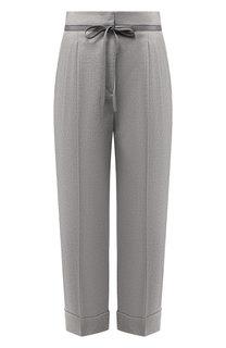 Шерстяные брюки с отворотами Giorgio Armani