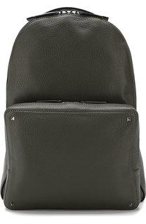 Кожаный рюкзак Valentino Garavani Rockstud с внешним карманом на молнии Valentino