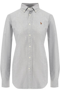 Приталенная хлопковая блуза в полоску Polo Ralph Lauren