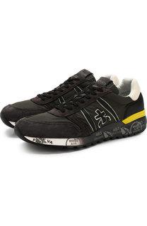 Комбинированные кроссовки Lander на шнуровке Premiata