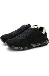 Комбинированные кроссовки Mattew на шнуровке Premiata