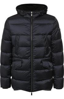 Пуховая куртка на молнии с капюшоном Moorer