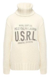Шерстяной пуловер с высоким воротником Polo Ralph Lauren