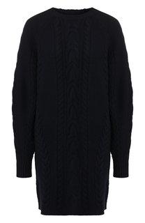 Шерстяное платье фактурной вязки Polo Ralph Lauren