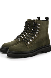 Высокие замшевые ботинки на шнуровке Balmain