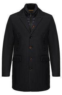 Пуховая куртка на пуговицах с отложным воротником Moorer