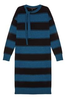 Шерстяное платье в полоску Marc Jacobs