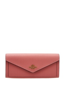 Розовый кошелек с клапаном Coach