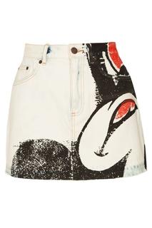Короткая джинсовая юбка Marc Jacobs