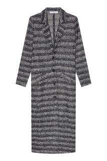 Вязаное пальто в полоску Amina Rubinacci