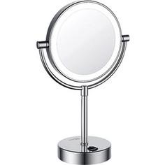 Зеркало косметическое настольное Wasserkraft с подсветкой, 3-х кратное увеличение (1005)