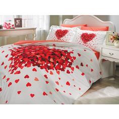 Комплект постельного белья Hobby home collection 2-х сп, поплин, Juana, красный (1501000666)