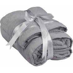 Набор из 2 полотенец Hobby home collection Nisa светло-серый 50x90/70x140 (1501001383)