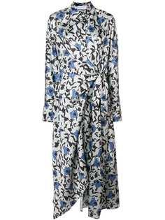 платье-рубашка в стиле оверсайз с цветочным принтом Christian Wijnants