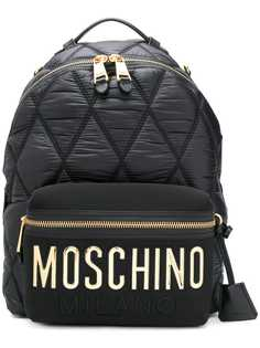 large quilted logo backpack Moschino