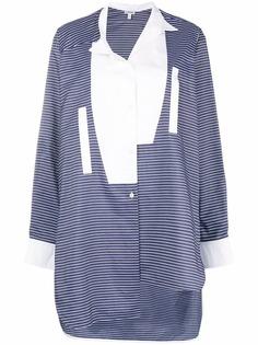 асимметричная рубашка в полоску Loewe
