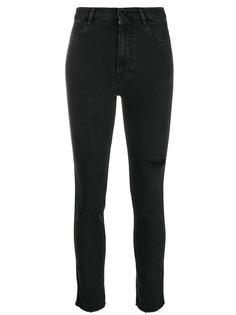состаренные джинсы скинни Pt05