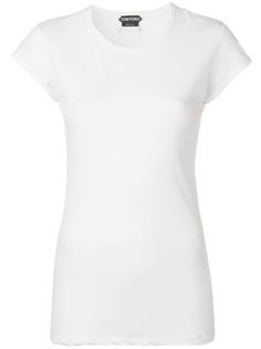 однотонная футболка Tom Ford