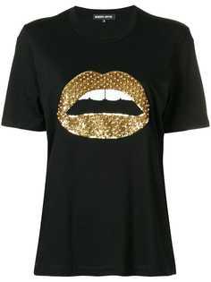 футболка с изображением губ с пайетками Markus Lupfer
