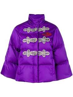 куртка-пуховик с декором из кристаллов Gucci
