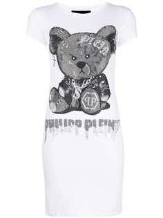 удлиненная футболка с принтом Philipp Plein