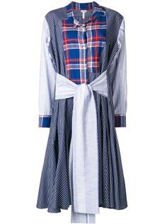 платье-рубашка в лоскутном стиле Loewe