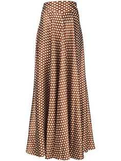 расклешенная юбка макси в горох Dvf Diane Von Furstenberg