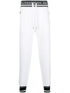 спортивные брюки с принтом логотипа Dolce & Gabbana
