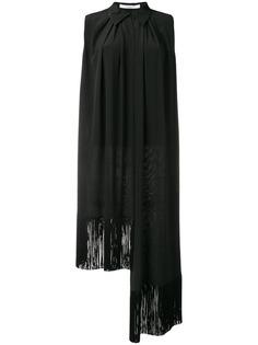 блузка асимметричного кроя с бахромой Givenchy