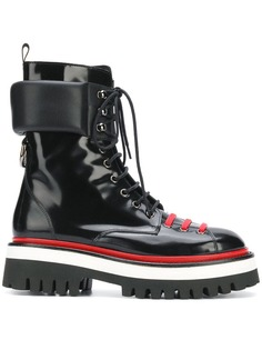 ботинки по щиколотку на шнуровке MSGM