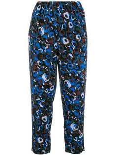 брюки с цветочным принтом Marni