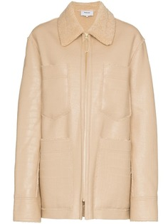 куртка с воротником из овчины Nanushka