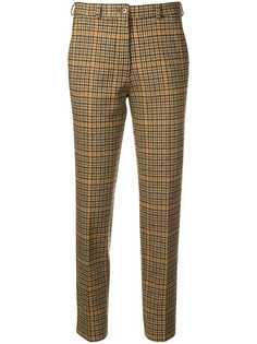 plaid tailored fitted trousers Etro