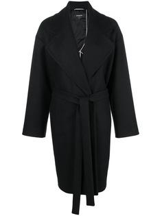однобортное пальто с поясом Rochas