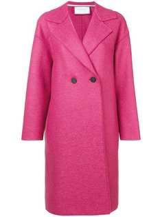 двубортное пальто средней длины Harris Wharf London