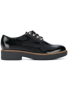 varnished lace-up shoes Geox