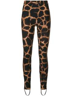 брюки с принтом пятен жирафа Dolce & Gabbana