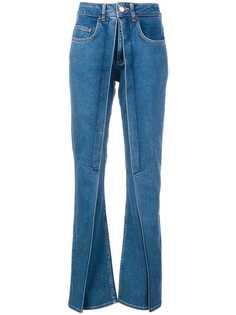 расклешенные джинсы с перекрученной деталью Aalto