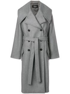 двубортное пальто с поясом Rochas