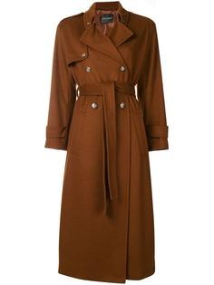 удлиненное пальто с поясом Erika Cavallini