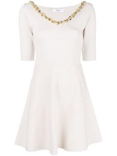 расклешенное платье с отделкой Blugirl