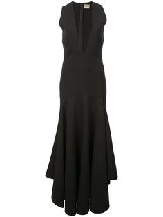 вечернее платье макси с глубоким V-образным вырезом Solace London